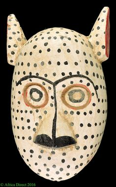 Bozo Mask White Spotted With Ears Mali African ART | eBay