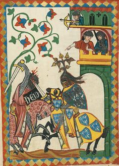 Manesse Codex - illuminated manuscript