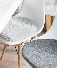 cojines de silla en color gris adecuado para la silla de eames limitada eames chairs. Black Bedroom Furniture Sets. Home Design Ideas