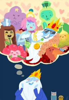 Ice king loooves those princesses but he really doesnt like wildberry or LSP that much