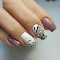 and Beautiful Nail Art Designs Beautiful Nail Designs, Beautiful Nail Art, Gorgeous Nails, Nail Art Diy, Diy Nails, Cute Nails, Nailart, Butterfly Nail Art, Diy Nail Designs