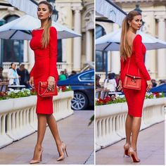 La imagen puede contener: 2 personas, personas de pie y calzado Best Picture For REd dress midi For Your Taste You are looking for something, and it i Red Dress Casual, Red Dress Outfit, Classy Dress, Classy Outfits, Dress Outfits, Casual Dresses, Formal Dresses, Wedding Dresses, Dress Skirt