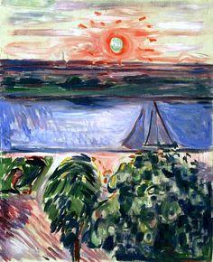Edvard Munch - Canal at Sunset 1908