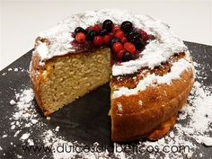 Sponge cake without flour and without sugar, suitable for diabetics and coeliacs - Recetas pro - Pastel de Tortilla Almond Recipes, Gluten Free Recipes, Healthy Desserts, Delicious Desserts, Tortas Light, Sugar Free Diet, Comidas Light, Healthy Sweets, Muffins