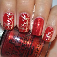 Pinned by www.SimpleNailArtTips.com CHRISTMAS NAIL ART DESIGN IDEAS -  heartNAT: China Glaze Winter Berry & Bundle Monster 314