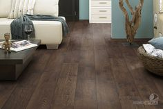 Home decorators collection distressed brown hickory 12 mm for Columbia laminate flooring canada