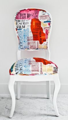 Letter Accent Chair from Contour Interior Design.