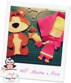 """Due dei tre nuovi wip: Masha e Orso x Donatella e Ariel e Eric de """"La sirenetta"""" x la piccola Sofia.. Sempre su base di modelli di Mamm..."""