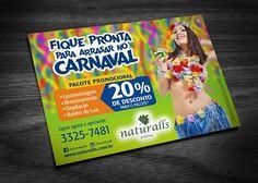 Panfleto para campanha de Carnaval da Naturalls