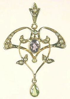 Delicate in appearance, this petite piece is also indicative of the Edwardian taste in jewelry. Delightful to the eye and steeped in history, Suffragette jewelry pieces are scarce and highly desirable.