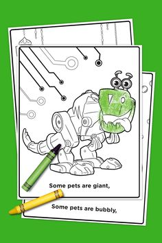 Rusty Rivets Coloring Pack | Birthdays, Birthday party themes and ...