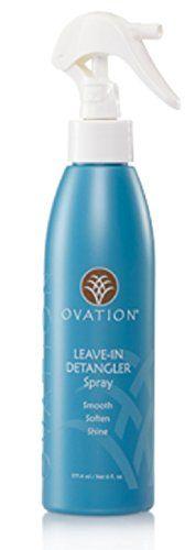 Ovation Hair Leave-In Detangler Spray +Bonus Brush  //Price: $ & FREE Shipping //     #hair #curles #style #haircare #shampoo #makeup #elixir