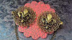 Fleur De Lis Sweater clip antique bronze color clips by SEVN7SEVN, $11.50