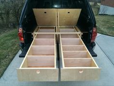Tacoma Sleeping Platform - Album on Imgur - How to build one version of a truck bed-bed.