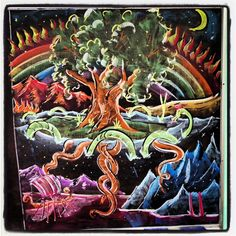 4th grade, Norse mythology world tree and nine worlds. Brian Wolfe :: Davis Waldorf School