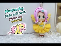 Today I'm going to show you how to make a Polymer clay Fluttershy Chibi doll based on the series My little pony. I hope you like this tutorial! My Little Pony Youtube, Chibi, Clay People, Doll Tutorial, Fluttershy, Clay Tutorials, Christmas Tree Decorations, Polymer Clay, Miniatures