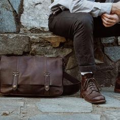 This premium full grain brown leather messenger bag is lightweight and handcrafted for a lifetime of business, luxury, adventure, and more. The clean silhouette says classic professional. The aged oak finish echos vintage men's style. And the adjustable strap and padded laptop sleeve offer function and ease. #mensbags #mensfashion Brown Leather Messenger Bag, Cow Leather, Leather Shoulder Bag, Messenger Bags, Shoulder Bags, Vintage Men, Vintage Leather, Waxed Canvas Bag, Rugged Men