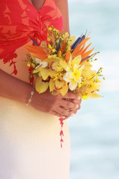 sunset beach wedding colors