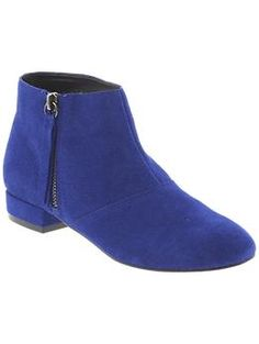 if I'm going to get faux-suede booties...might as well be blue, right?  | DV by Dolce Vita Faven | Piperlime