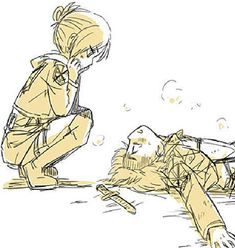"armin and annie - Buscar con Google>>I though that was Annie and eren at first and I was like ""I didn't know that was a ship"" but now I realize it's not...btw the art is amazing"