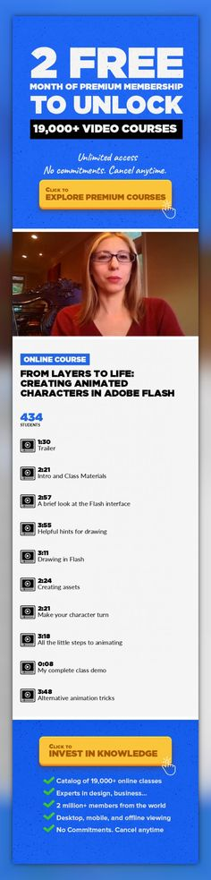 From Layers to Life: Creating Animated Characters in Adobe Flash Film & Video, Animation, Character Design, Character Animation, Flash, Creative, Cartoon, Creativity #onlinecourses #onlinedegreecareer #learningactivities   Flash is one of two industry standard programs (The other being Toon Boom) for creating cartoons online and on television. You will already be familiar with several of these car...