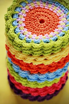 colorful crochet