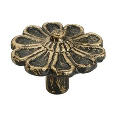 The Mascot Hardware in. Cosmo flowered Design knob features a hand-brushed antique brass patina finish to add a decorative look to your drawer or cabinet. This cabinet knob will help a stylish and Kitchen Knobs, Kitchen Cabinet Handles, Kitchen Hardware, Cost Of Kitchen Cabinets, Cupboards, Brass Patina, Patina Finish, Cabinet And Drawer Knobs, Drawer Pulls