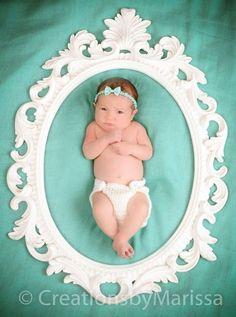 Newborn frame baby girl newborn photography
