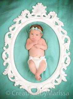 Newborn frame baby girl newborn photography