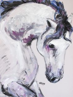 "Saatchi Online Artist: Sara Riches; Acrylic, 2013, Painting ""Horse"""