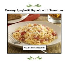 Food News, Best Restaurants, Cooking Tips & Tricks, Easy Recipes, Quick Meals and New Drinks Creamy Spaghetti, Spaghetti Squash, Vegetarian Diabetic Recipes, New Cooking, Veggies, Dinner, Ethnic Recipes, Eat, Food