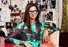 "Jenna Lyons, the head J.Crew stylist, praised as ""the woman who dresses America."""