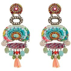 Ayala Bar Florence Dreamcatcher Earrings ($203) ❤ liked on Polyvore featuring jewelry, earrings, earring jewelry, earrings jewellery, ayala bar earrings, ayala bar jewelry and ayala bar