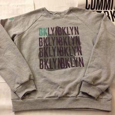 Committed to BKLYN Sweatshirt Grey/Purple/Blue by BoyandSheep, $50.00