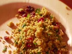 Curried Couscous Salad with Dried Sweet Cranberries recipe from Dave Lieberman via Food Network