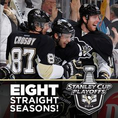 And we're on our way to the 2014 Stanley Cup Playoffs! Go Pens!