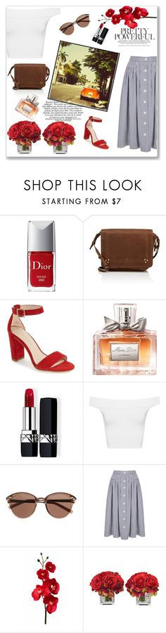 """Retro"" by emina-la ❤ liked on Polyvore featuring Christian Dior, Jérôme Dreyfuss, Pelle Moda, WearAll, Witchery, The French Bee and Pottery Barn"