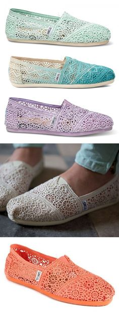 Too cute! NEED these for summer! #Toms #TOMS #toms | See more about crochet shoes, crochet and shoes.
