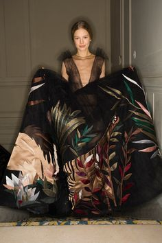 On safari with a skirt large enough to double as a tent at Valentino Spring 2014 Couture.