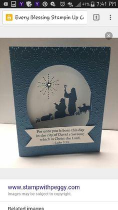 Every Blessing Stampin Up Religious Christmas Cards, Beautiful Christmas Cards, Christmas Cards To Make, Xmas Cards, Handmade Christmas, Holiday Cards, Christmas 2017, Christmas Projects, Christmas Ideas