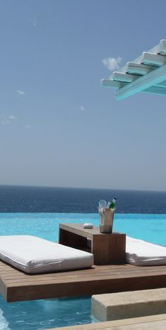 Hotel philosophy in Mikonos: Cavo Tagoo Mykonos Island, Santorini Greece, Dream Vacations, Vacation Spots, Tenerife, Oh The Places You'll Go, Places To Visit, Cavo Tagoo Mykonos, Santorini Hotels