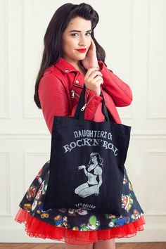 Daughters Of Rock'n'Roll Handmade tote bag by Ted Dollar