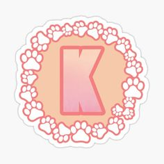 LETTER K PAW Stickers | Redbubble