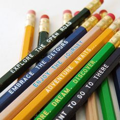 Travel Inspired 12 Pack of Pencils