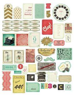 Crate Paper DIY Shop Ephemera Die-Cut Cardstock Embellishments 683148 | eBay