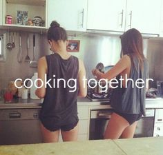 I miss this, but not too much longer and we'll be cooking together all the time.