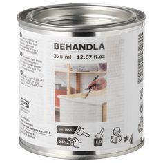 IKEA - BEHANDLA, Glazing paint, white, Makes the surface of untreated wood more durable. One can contains enough glazing paint to coat four chairs one time. Time before recoating: 6 hours. Custom Candles, Diy Candles, Scented Candles, Candle Jars, Pots, Special Massage, Candle Making Supplies, Glaze Paint, Wood