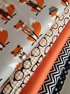 Foxy Fabric with Coordinating  Patterns