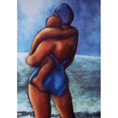 'The Blue Swimmer' by Painter Sue Richardson. Blank Art Cards By Green Pebble.  www.greenpebble.co.uk