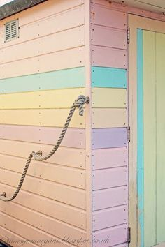 The Villa on Mount Pleasant, pastel beach hut